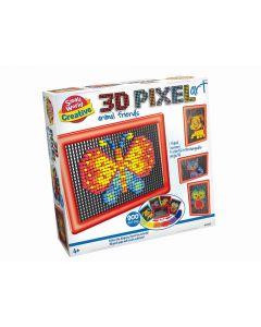 3D Pixel kunst dieren vriendjes
