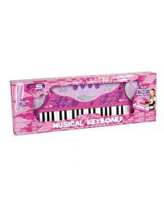 Keyboard 37 Toetsen Met Microfoon Pink