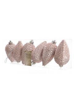 K Sh.Prf Pinecone Glit W Hanger Blush Pink Dia4.5X8Cm
