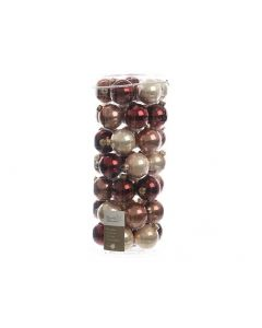 K Gl Baubles Pearl-Red Mix Assortiment Per Stuk Dia6Cm