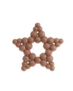 K Foam Star With Hanger Pink Champagne 2X15.5X15.5Cm