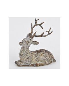 Deer Lying Polyresin Brown-Cream 12X12X7Cm