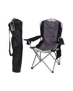 Vouwstoel Deluxe Grijs Zwart