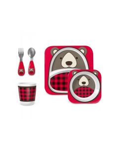 SKIP HOP ZOO WINTER BEAR FEEDING SET