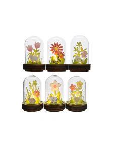 Led Cloche Glas Bo Dia6X10Cm-1L Warm Wit 6Assortiment Prijs Per Stuk