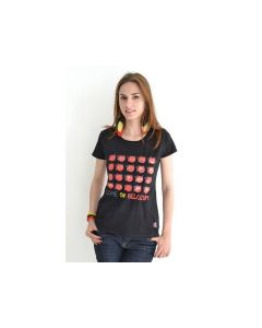 Belgium Tshirt Dames Zwart Come On Belgium