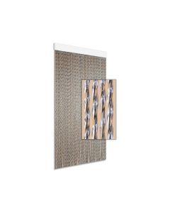 Gordijn Kunststof Art. 3 Zwart 90X210 Cm