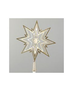 Metall 3D Star-Ornament Tree Top 12/48 Champagne 23Cm