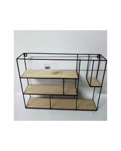 Metal/Wood Shelfs Black L