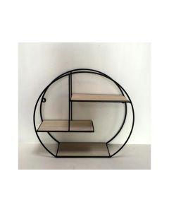 Metal/Wood Shelfs Black S