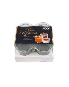 Weck Bon Appetit Bokaal 1/5 L Hoog Set 4 + Clips+Ring