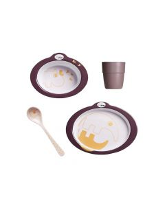 Done By Deer Dinner Set Contour Dark Powder/Gold