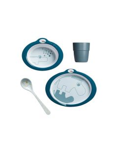Done By Deer Dinner Set Contour Dark Blue