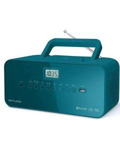 Muse M 30 Btb Boombox Bluetooth Cd Pll Tuner Usb Blue