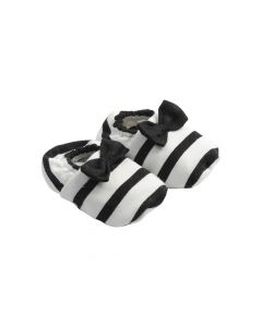 House Of Jamie Bow Tie Booties Breton 0-6M