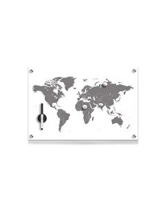 "Glass Memo Board ""Worldmap""60X40Cm"