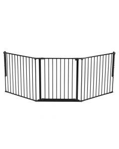 Noma 3 Panel Confiugre Gate Zwart