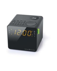 Muse M 187 Cr Cube Clock Radio Black Finish
