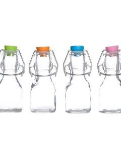 Melkfles Met Gekleurde Dop 4 Assortiment Per Stuk