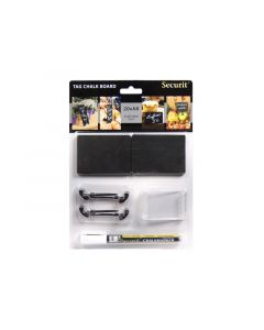 Securit Chalkboard Tags A8 7.4X5.2X0.1Cm With Chalkmarker & Transparant Holders
