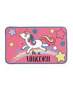 Zaska Unicorn Fleece Room Carpet 45X75Cm