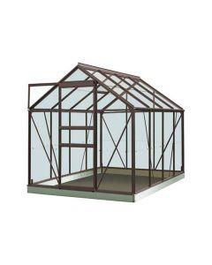 Serre Intro Grow - Ivy - 5,0M² Antraciet Grijs Ral7016 Poly 4Mm - 1,93M X 2,57M X H1,21M/1,95M