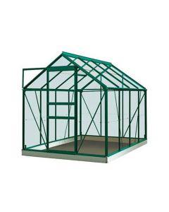 Serre Intro Grow - Ivy - 5,0M² Groen Ral6009 Gehard Glas 3Mm - 1,93M X 2,57M X H1,21M/1,95M