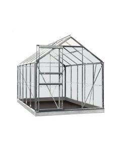 Serre Intro Grow - Lily - 6,2M² Aluminium Gehard Glas 3Mm - 1,93M X 3,19M X H1,21M/1,95M
