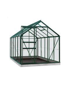 Serre Intro Grow - Lily - 6,2M² Groen Ral6009 Gehard Glas 3Mm - 1,93M X 3,19M X H1,21M/1,95M