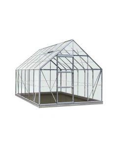 Serre Intro Grow - Oliver - 9,9M² Aluminium Poly 6Mm - 2,57M X 3,84M X H1,20M/2,23M