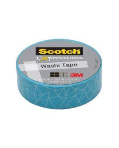 Scotch Expressoins Tape Refill Blue Cracked 15Mm X 10Mm