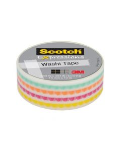 Scotch Expressions Tape Refill Funky 15Mm X 10Mm