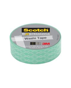 Scotch Expressions Tape Refill Green Cracked 15Mmx10Mm