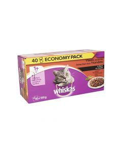 Whiskas P 100Gx40 Vlees Saus
