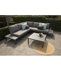 La Vida Lounge Set Aluminium Antraciet Incl Kussens