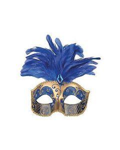 Loup Venetiaans Pluimen Blauw (type 2)