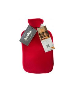 Warmwaterfles Incl. Fleece Hoes 2L Bordeaux