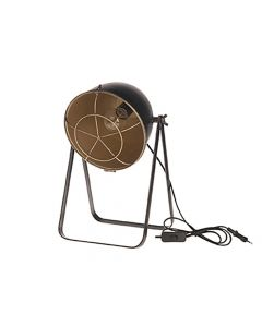 Lamp Metal 27X23X42.5Cm Zwart/Goud