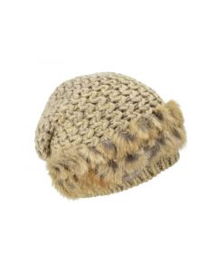 Seeberger W18 Headsock Suri With Real Fur Sand