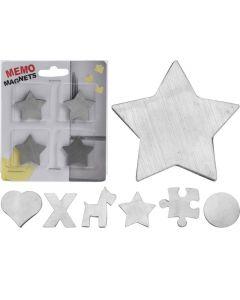 Memomagneten Set 4Sts Inox, 6Assortiment Prijs Per Stuk Figuren,