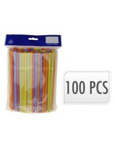 Buigrietjes 100St Neon, 0,7X21Cm