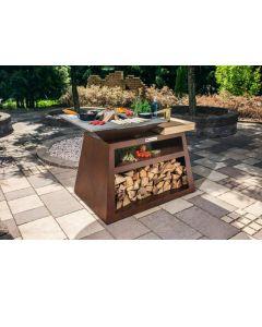 Quan Garden Art Quadro Basic Line Large 130X80Cm H90Cm Corten Roestkleur