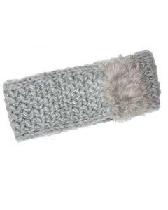 Seeberger W18 Headband Suri With Real Fur Trim Off White