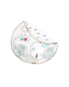 Play And Go Speelmat En Toy Bag Trainmap/Bear (Dubbelzijdig)
