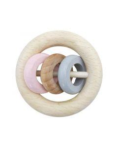 Hess Ronde Rammelaar 3 Ringen Natuur & Roze