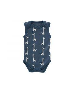 Fresk Romper Zonder Mouw Giraf Indogo Blue Size: 6-12 M