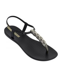 Ipanema Charm Sandal Black/Gold 38