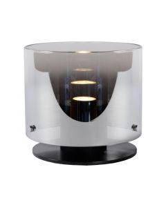 Lucide Owino Tafellamp  Gu10 Led Ø 20Cm H 17Cm Zwart/Fumé