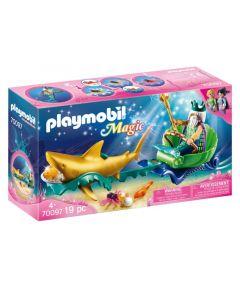 Playmobil 70097 Koning Der Zeeen Met Haaienkoets