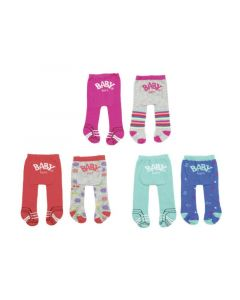 Baby Born Trend Tights 2-Pack Assortiment Per Set